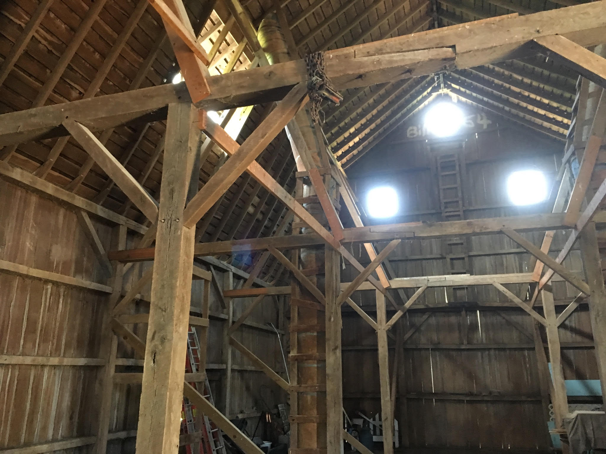 Interior of Jack Smith Barn
